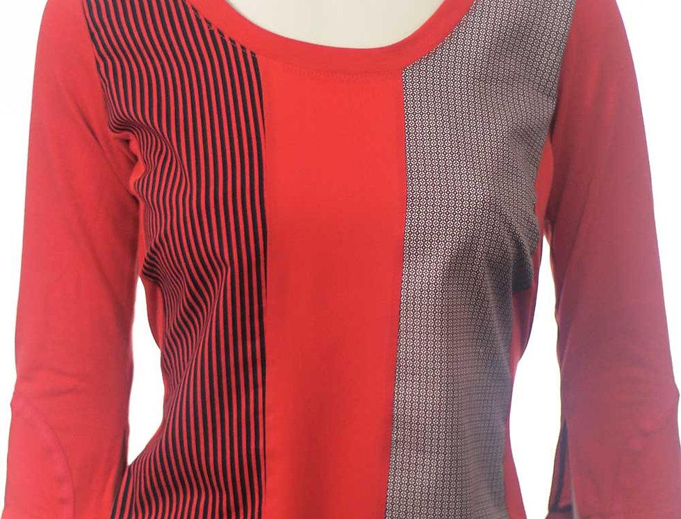 Blusa Hace rojo rayas
