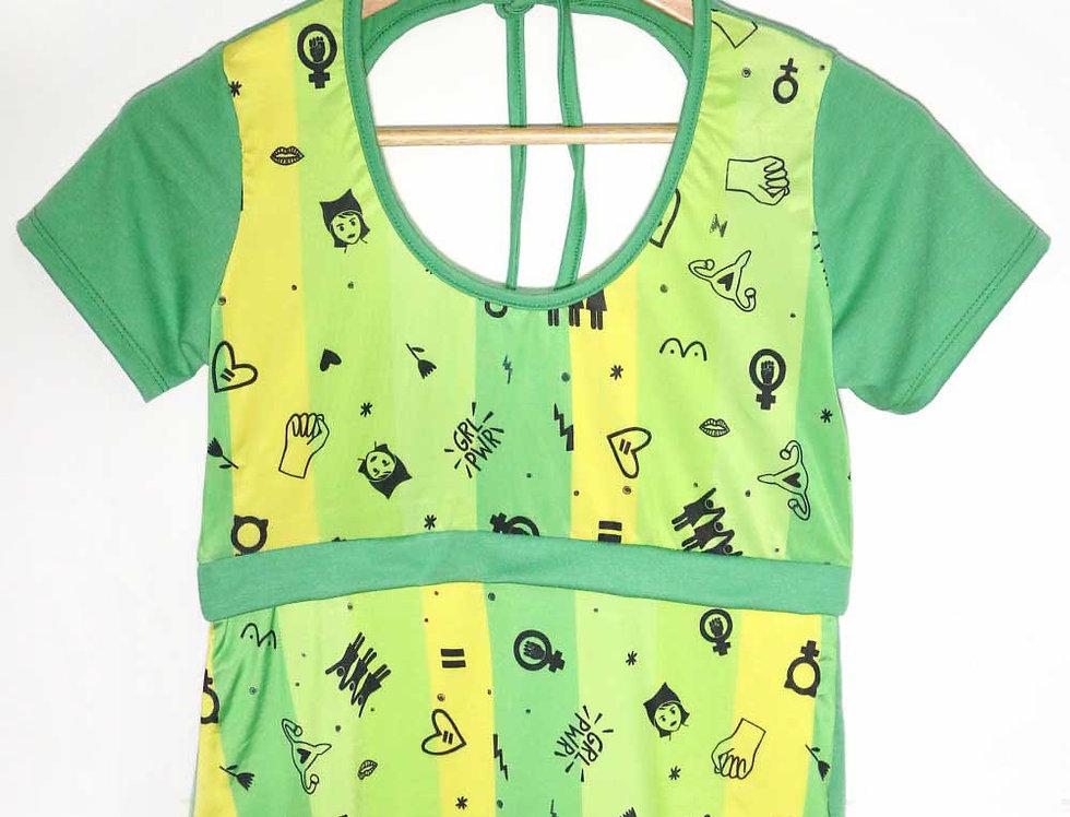 Blusa Pop (verde feminista)