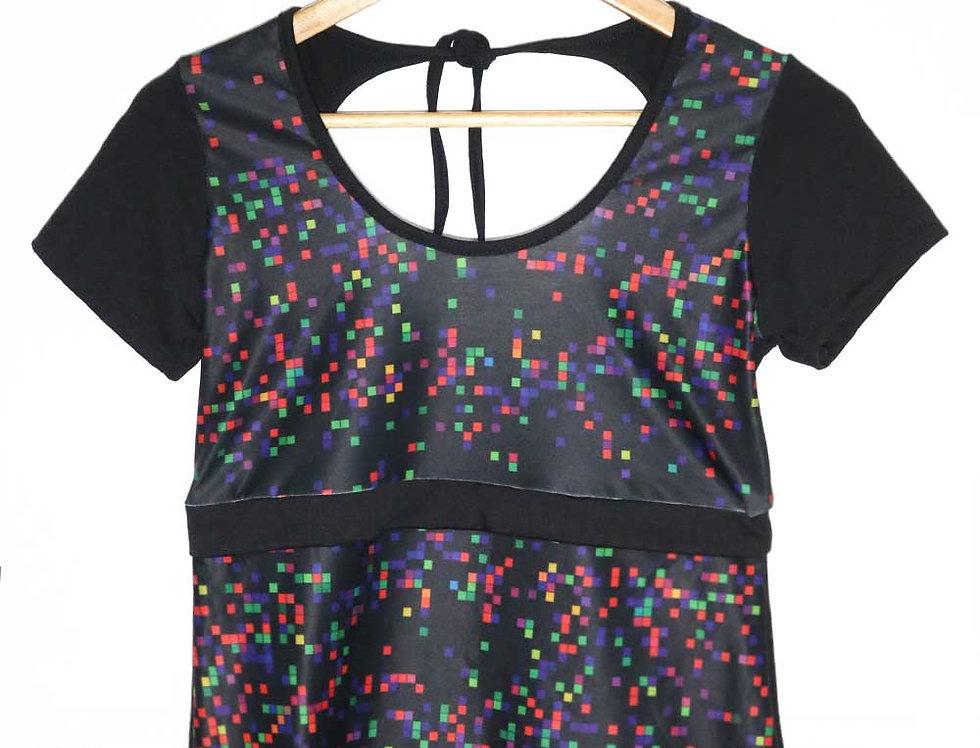 Blusa Pop (pixels negro)