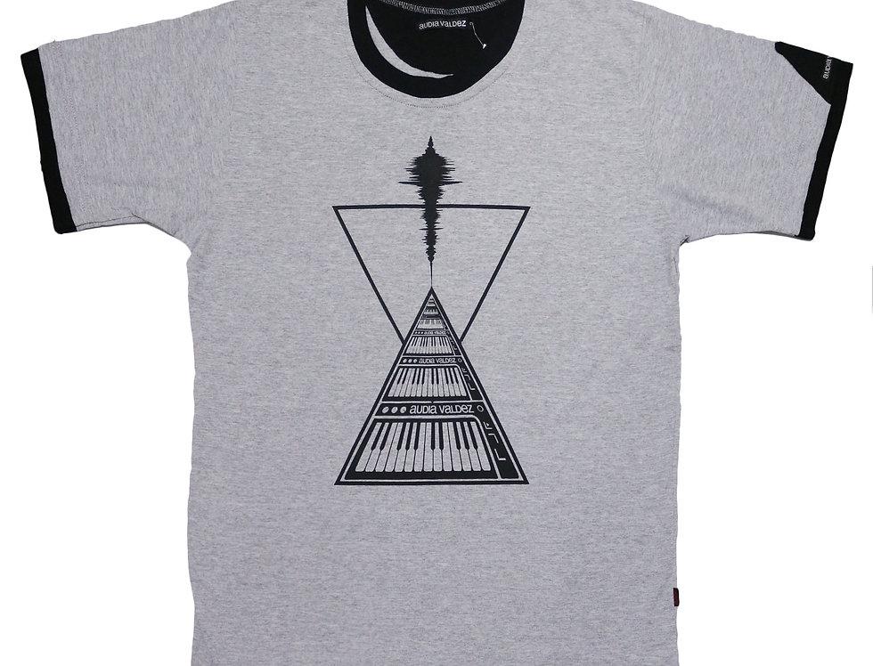 Playera Hombre (melange-triángulos)