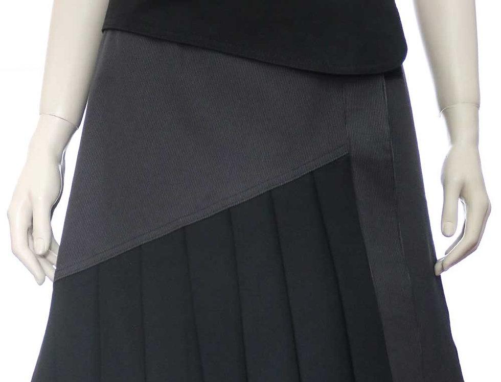 Falda Momento (gris rayitas-negro)