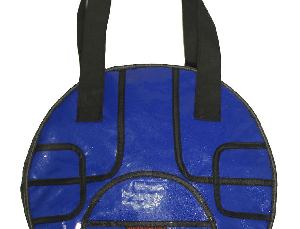 Cartera Concentrico (vinilo azul)