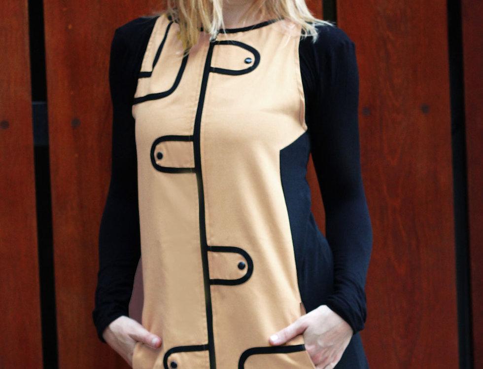 Vestido Audry Mini (beige)