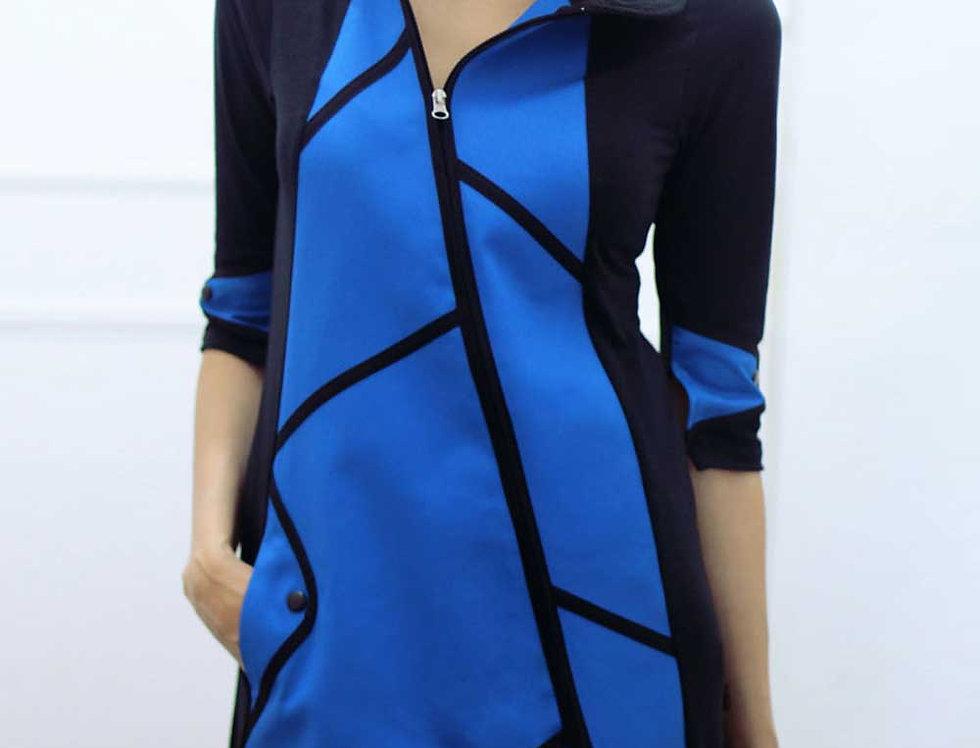 Vestido Destino Fiel (azul francia)