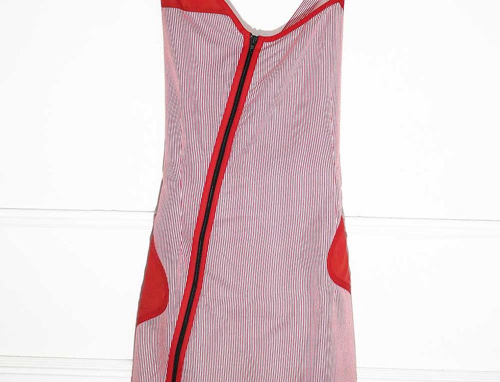 Vestido Diferente (rayitas rojas)