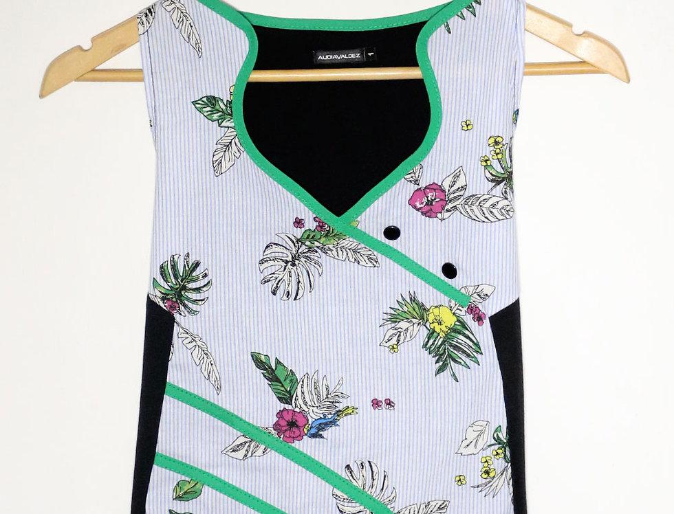 Blusa 2 Mentes (rayas flores)