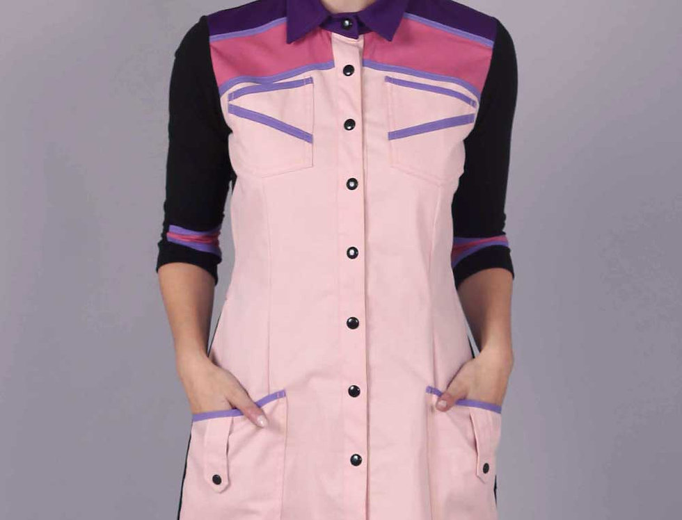 Vestido Maquinal (rosa claro)