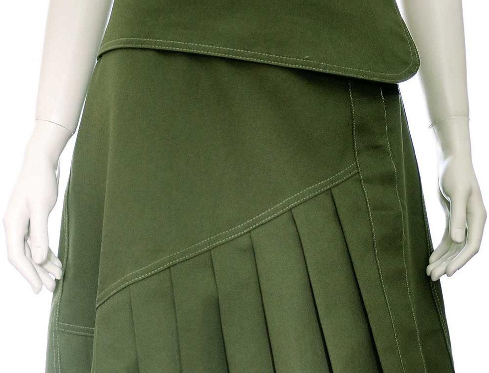 Falda Momento (verde militar)
