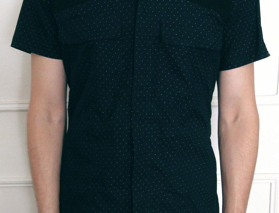 Camisa Hombre (azul osc. puntitos)