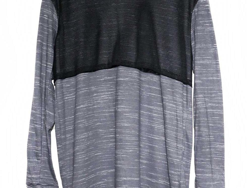 Playera Larga LNH (gris jaspeado)