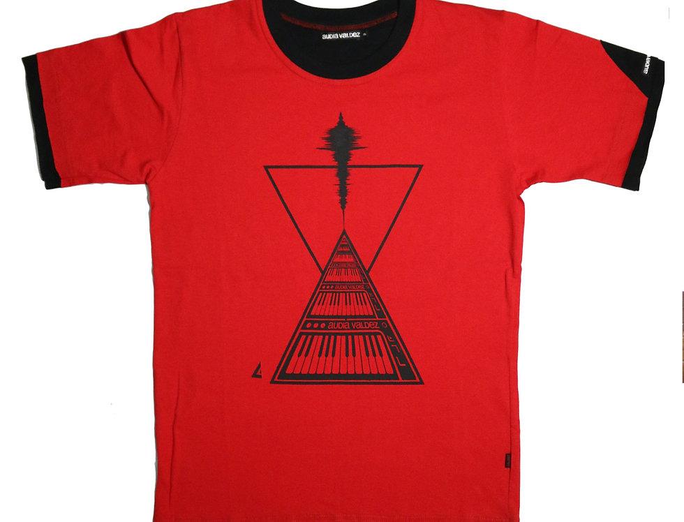 Playera Hombre (rojo-triangulos)