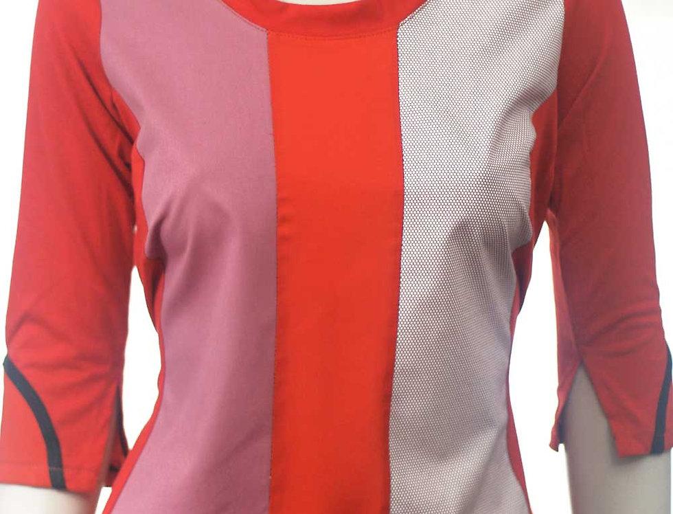 Blusa Hace Rojo y rosa