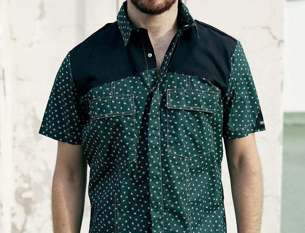 Camisa  (verde estampado)
