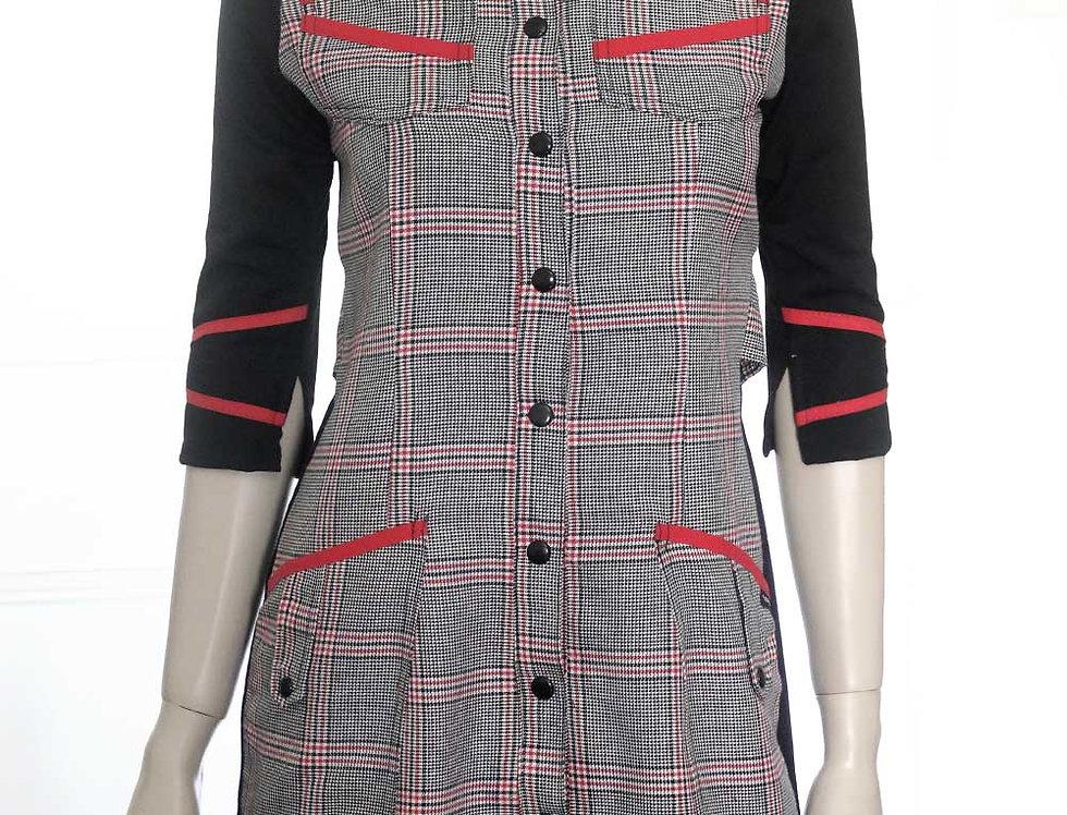 Vestido Maquinal (est. escocés)