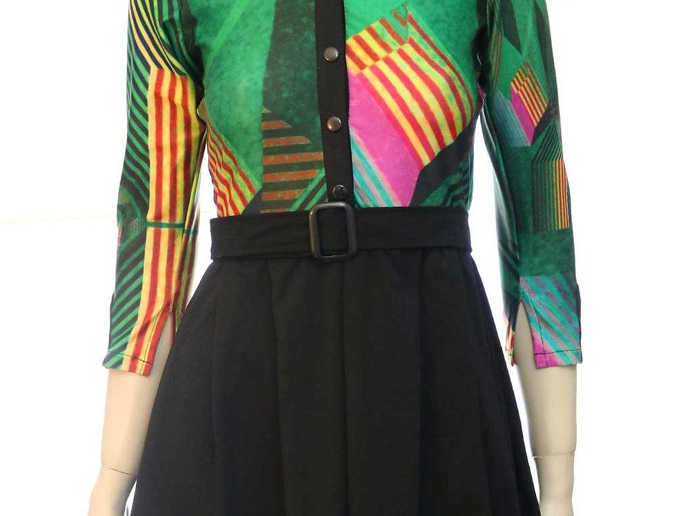 Vestido Las Palabras (est. verde/negro)