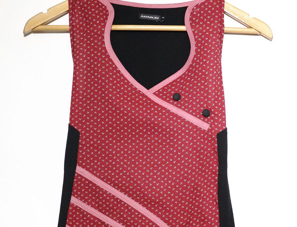 Blusa 2 Mentes (est. rojo osc.)