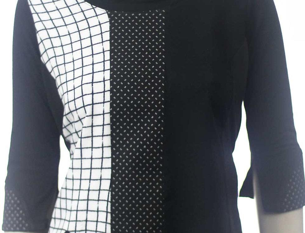 Blusa Hace blanco y negro rejilla