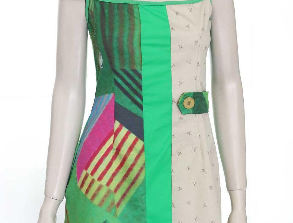 Vestido Romycal (est. verde cuadro)