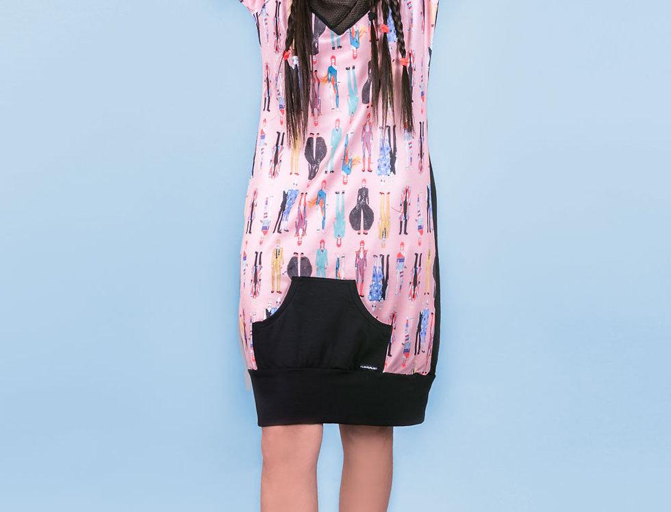 Vestido Productora (Bowies rosa)
