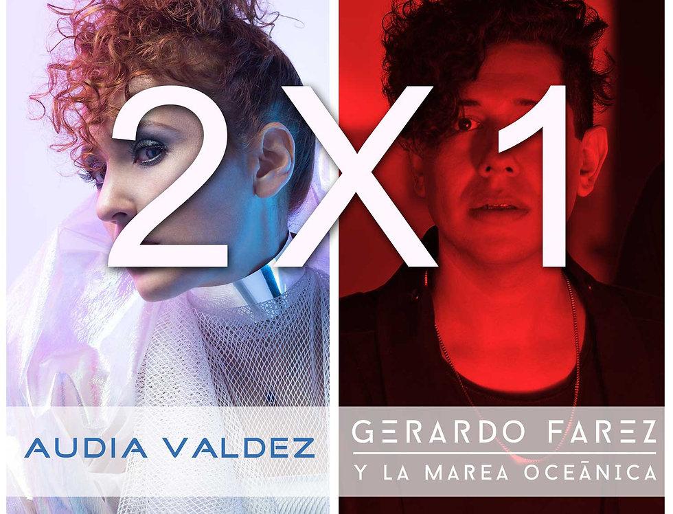 Ticket 2X1 Audia Valdez / Gerardo Farez YLMO 2 de agosto