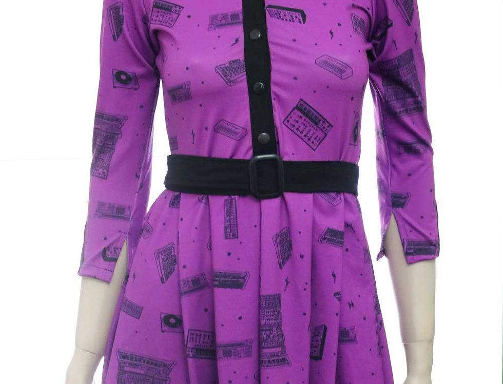 Vestido Las Palabras (sintes violeta)