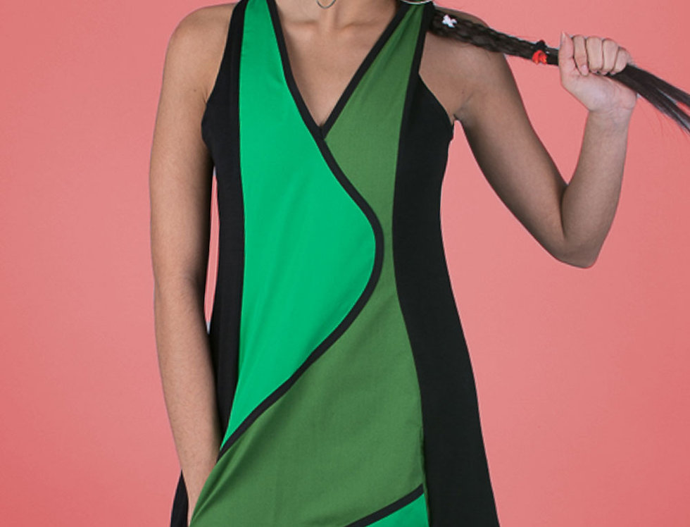 Vestido Viajera Errante (verdes)