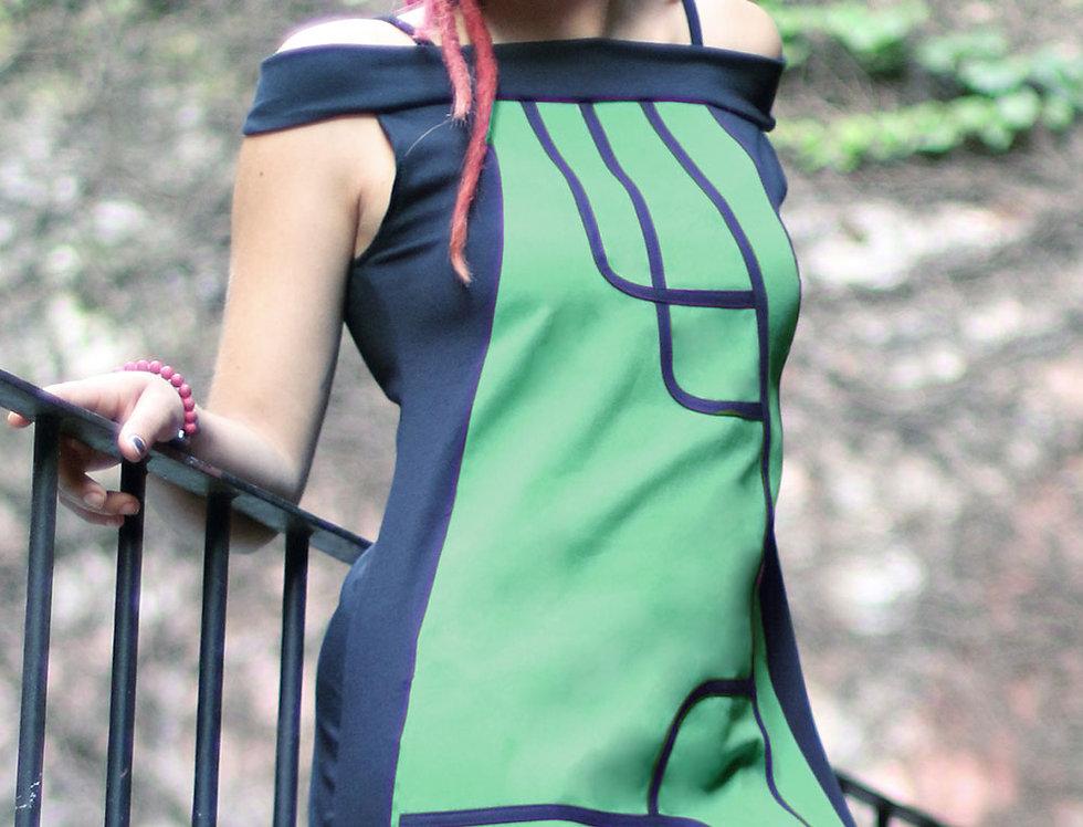 Vestido Kabu (verde benetton)