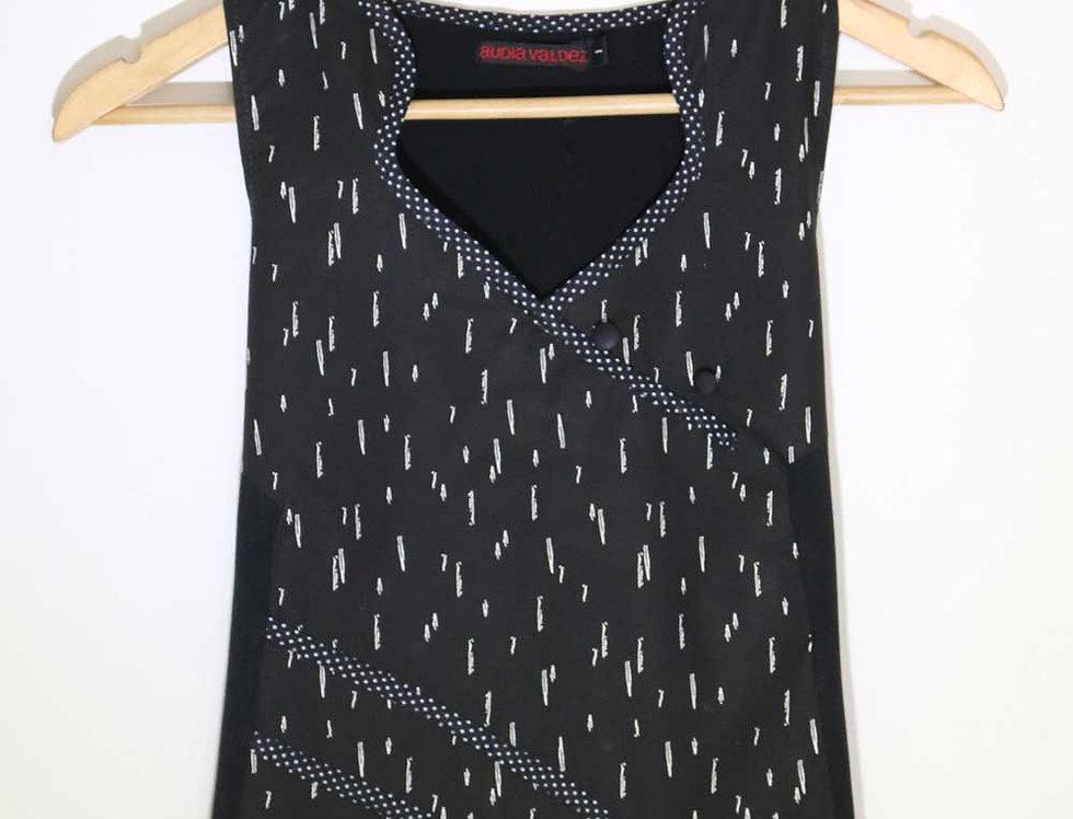 Blusa 2 Mentes (negro est. lluvia)
