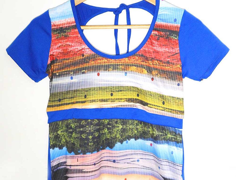 Blusa Pop (paisajes azul)
