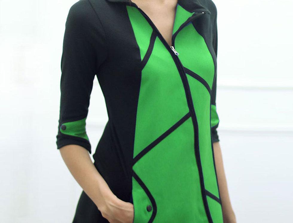 Vestido Destino Fiel (verde benetton)