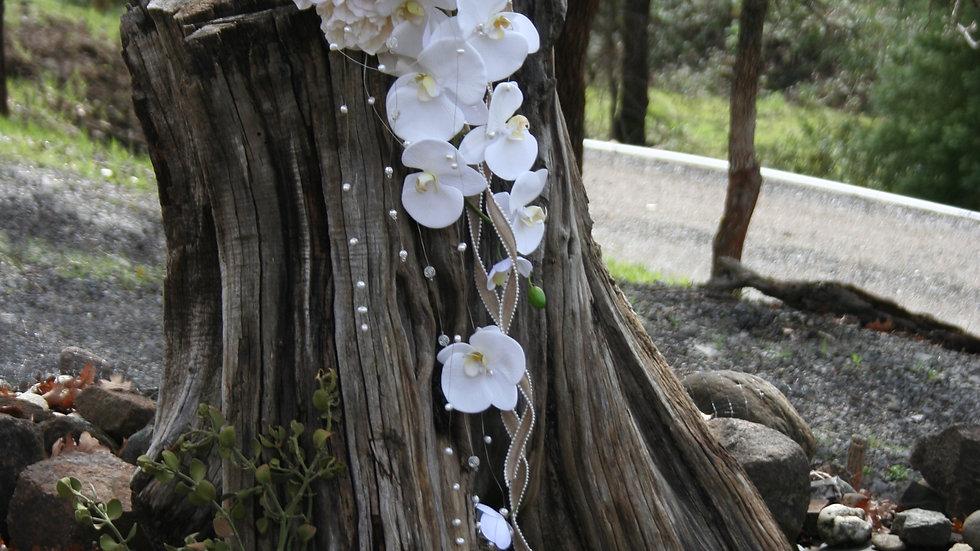 Pearl & Orchid Permanent Botanical Bridal Bouquet