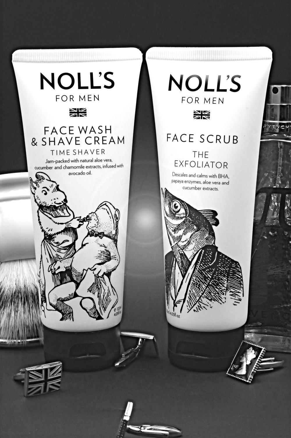 去角質霜搭配洗面刮鬍乳,讓刮鬍這件事更加輕鬆。