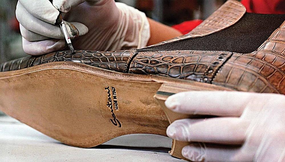 手工製作的桑托尼斯皮鞋