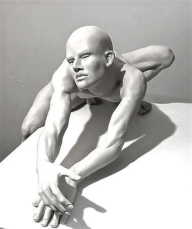 "Sculpture bronze  Eva Czaplicki ""Bleu nuit"""