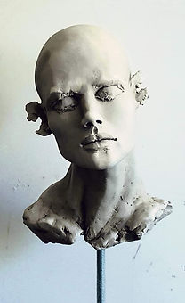 "Sculpture Eva Czaplicki ""Les nagueurs"""