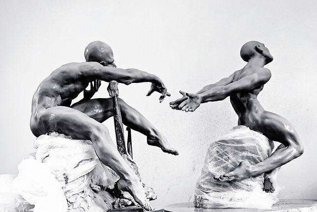 """Sculpture Eva Czaplicki """"La Nébuleuse du Cygne"""""""""""