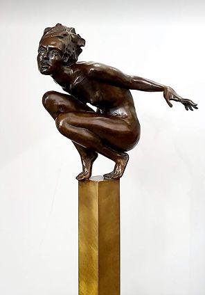 """Sculpture bronze  Eva Czaplicki """"Fleur de Jeanne"""""""