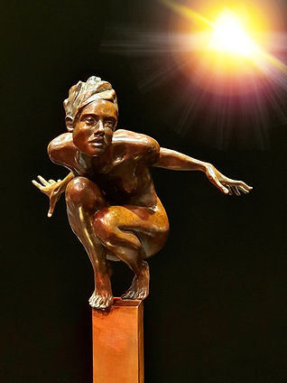 """Sculpture bronze  Eva Czaplicki """"Fleur de Jeanne"""""""""""