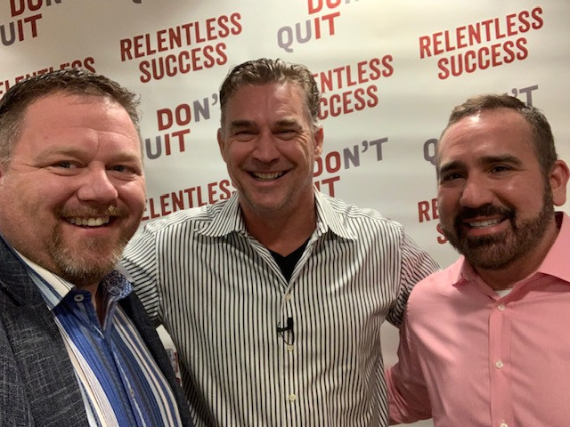 Photo of Todd Stottlemyre, Jason McWhorter and Dr. Joe Cangas