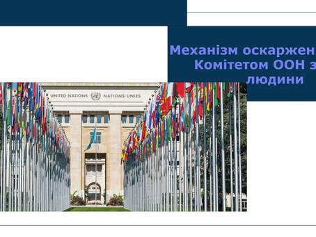 Механізм оскарження перед Комітетом ООН з прав людини