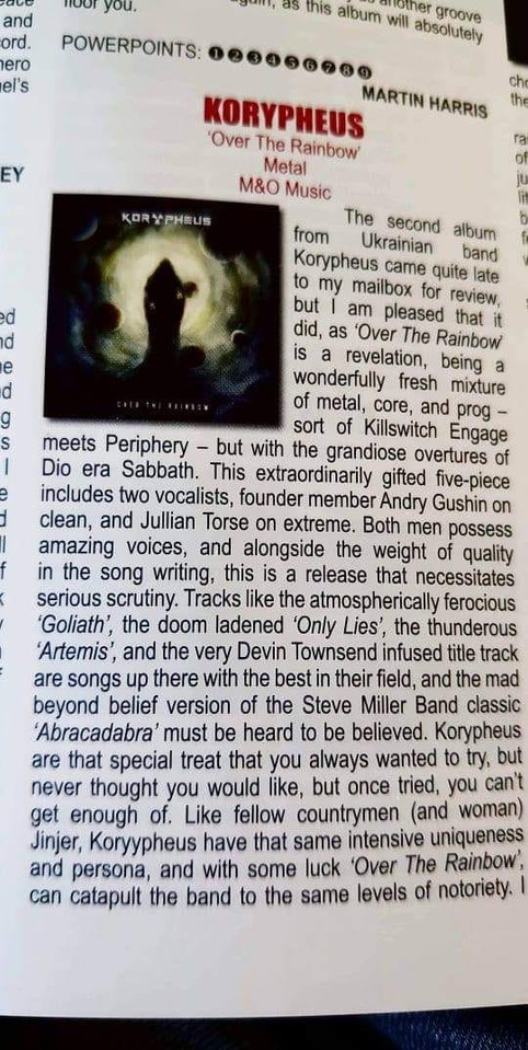 9/10 rated by Powerplay Rock and Metal Magazine