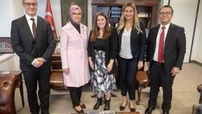 Co-founder of TACL, Zeynep Alpan, meets with Rabiye Sezer Katircioglu