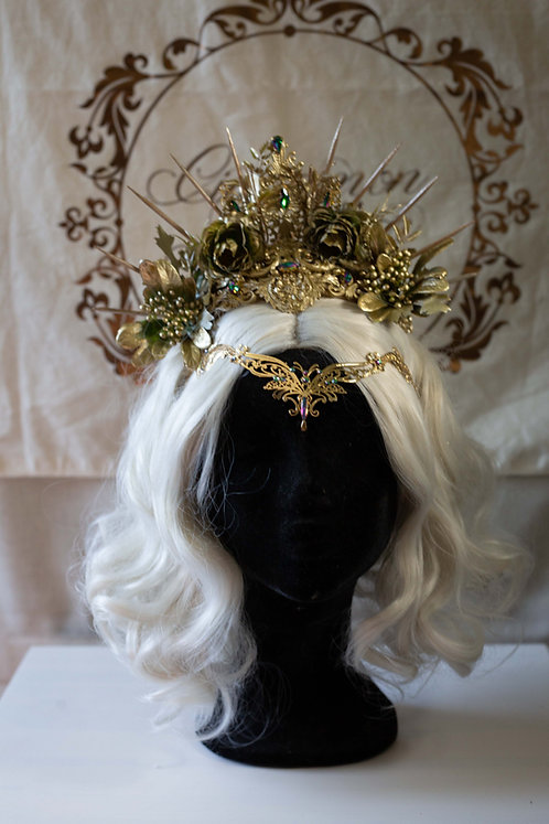 Gold two piece Headpiece