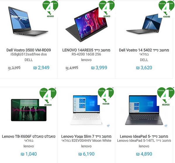 Online Store Laptop Category Page Exampl