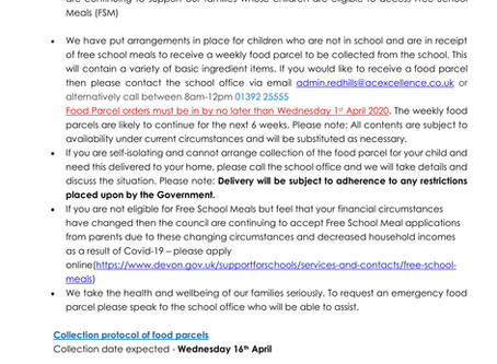Free School Meals Support