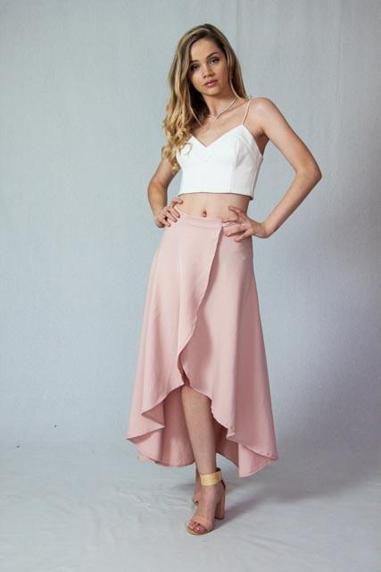 Silkess Wrap Skirt Glamorous Chic Style