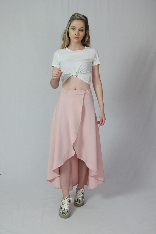 Silkess Casual Style Wrap Skirt