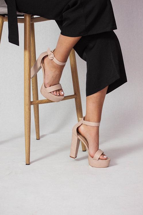 Peep Toe Platform Heels