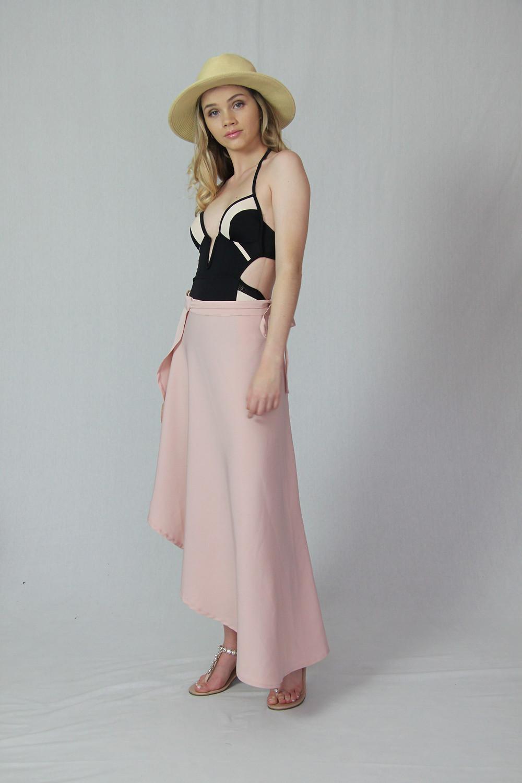 Silkess Wrap Skirt Pool Vibes