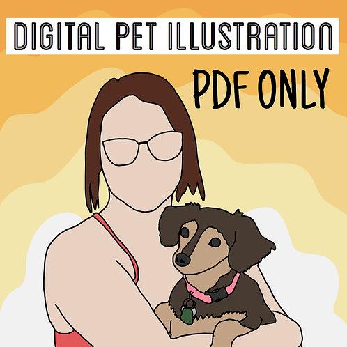 Digital PET Illustration PDF ONLY